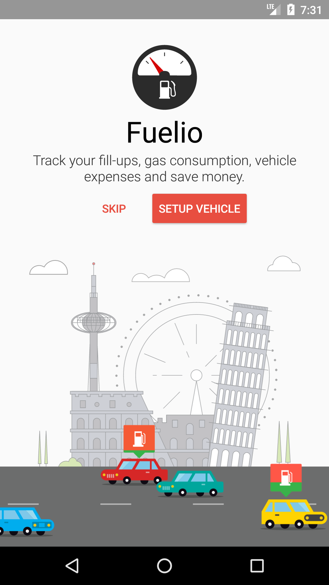 Fuelio - fuel log, mileage and costs tracker for Android
